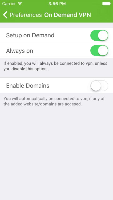 iphone vpn on demand