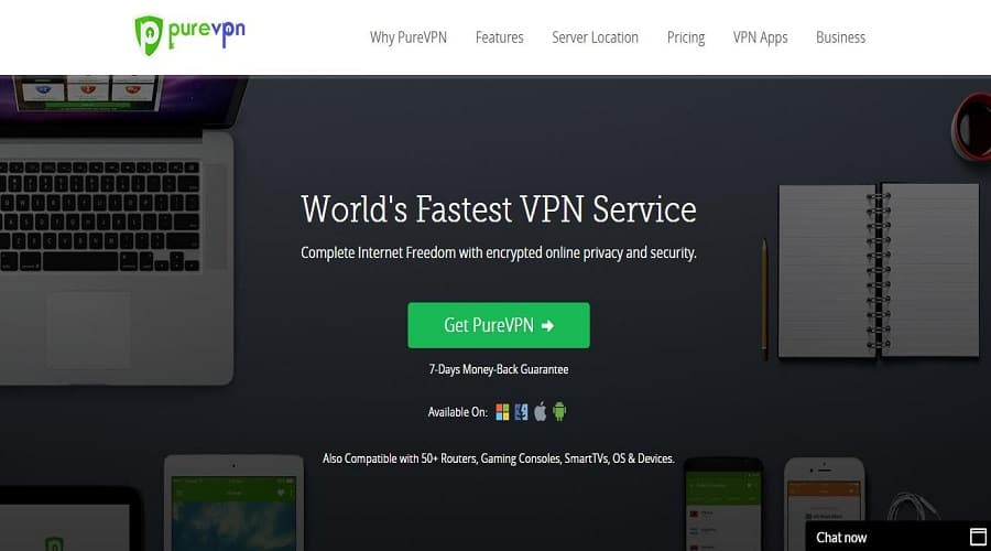 purevpn website