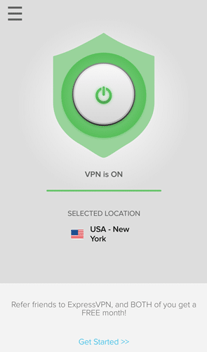 expressvpn review - user interface