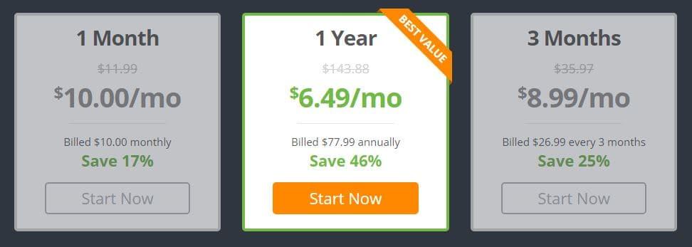 IPVanish Pricing Plan