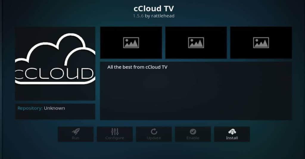 CCloud Tv koddi addon